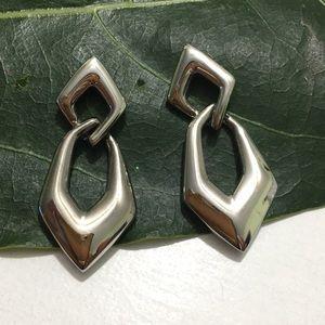 Napier silver tone earrings